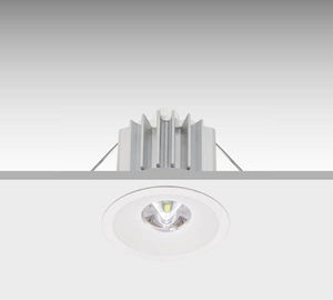 Notbeleuchtung für Deckeneinbau / rund / LED / Kunststoff