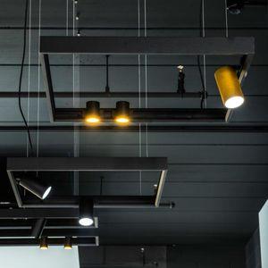 Hängeleuchte / LED / rund / quadratisch