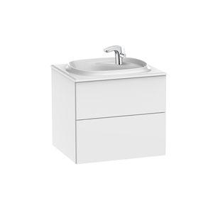 hängender Waschtisch-Unterschrank / Spanplatte / modern / Schubladen