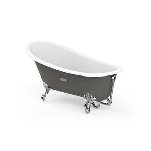 Badewanne auf Füßen / oval / Gusseisen