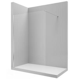 festinstallierte Duschwand