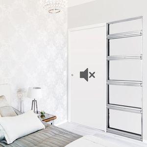 Tür für Innenbereich / Schiebe / Holz / Akustik