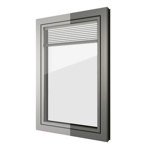 Flügelfenster / Aluminium / PVC / 3-Fach-Verglasung