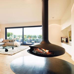 Holzkamin / Gas / modern / offene Feuerstelle
