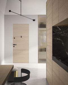 Tür für Innenbereich / einflügelig / Schiebe / Holz
