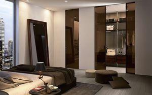 Tür für Wandschrank / für begehbaren Kleiderschrank / für Innenbereich / Schiebe