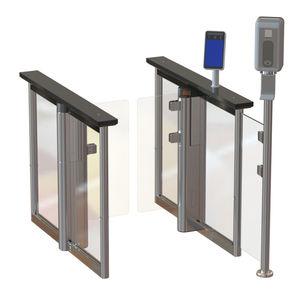 Speed Gate / für stark frequentierte Zonen / für Zugangskontrolle / aus Glas / mit Sicherheitsvorrichtung