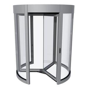 Eingangstür / Dreh / Glas / mit Sicherheitsvorrichtung