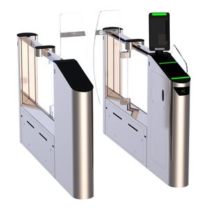 Speed Gate / für Zugangskontrolle / aus Glas / mit Sicherheitsvorrichtung / Edelstahl