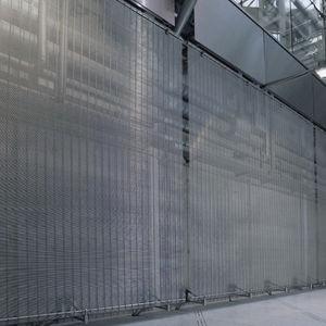 Drahtgeflecht-Dekorplatte / für Innenausbau / Metalloptik / transparent