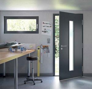 Eingangstür / einflügelig / verzinkter Stahl / Akustik