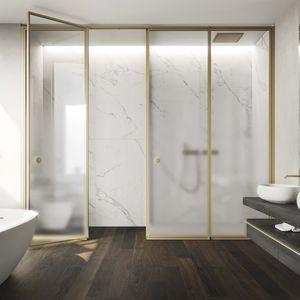 einflügelige Duschwand / für Nischen / Glas / für Privatgebrauch