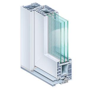 Stahl-Türprofil / PVC / wärmeisoliert