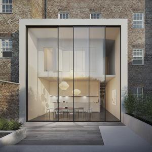 minimalistische Glaswand