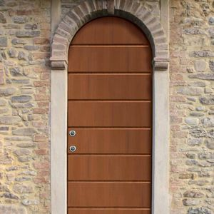 Eingangstür / einflügelig / Stahlblech / mit Sicherheitsvorrichtung