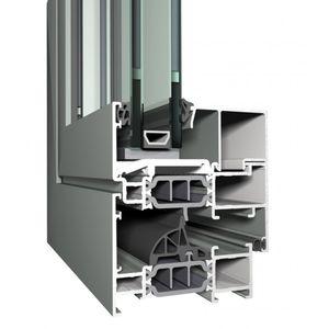 Aluminium-Fensterprofil / wärmeisoliert / einbruchsicher / feuerfest