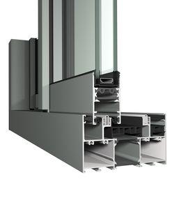 Schiebetürsystem / für Fenster / Metall