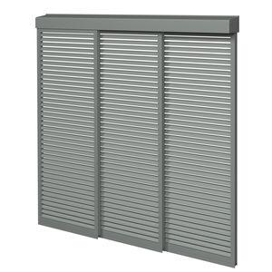 Aluminium-Sonnenschutzlamelle / für Fassaden / gleitend