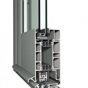 Aluminium-Türprofil / mit Sicherheitsvorrichtung / wärmeisoliert / hochbelastbar
