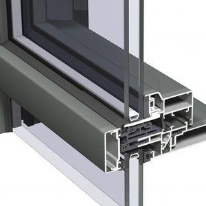 VEP-Vorhangfassade / aus Aluminium und Glas
