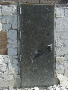 einflügelige Industrietore / verzinkter Stahl / stoßfest