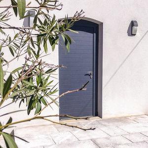 Eingangstür / einflügelig / Aluminium / mit Sicherheitsvorrichtung