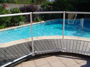 Schutzabsperrung / feststehend / Aluminium / für Schwimmbecken