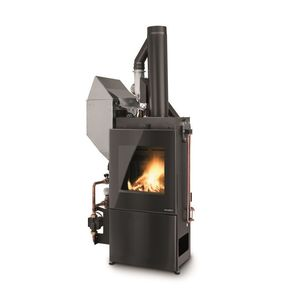 Geschlossene Feuerstelle / Pellets / Multibrennstoff / 1 Sichtseite / Metall