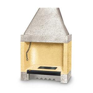 Offene Feuerstelle / Holz / 1 Sichtseite / Gusseisen / für Kamine