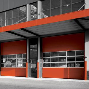 sektionale Industrietore / Stahlblech / automatisch / Akustik