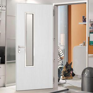 Tür für Innenbereich / einflügelig / aus Eiche / aus Nussbaum