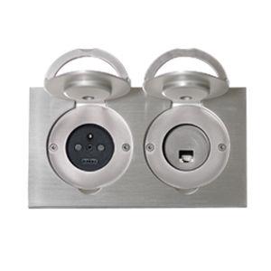 Telefonsteckdose / Computer / doppelt / wandmontiert