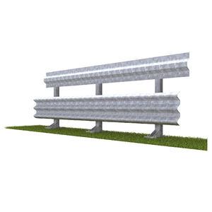 Stahlleitplanke