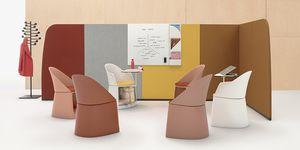bodenstehende Bürotrennwand / Stoff / modulierbarer