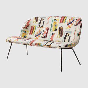 modernes Sofa / Stoff / 2 Plätze / braun