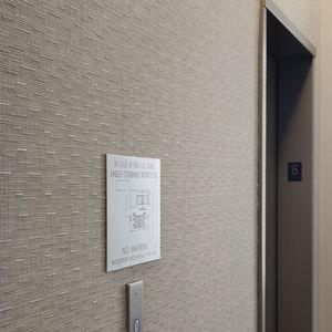 Möbelstoff / Wand / Streifenmuster / PVC