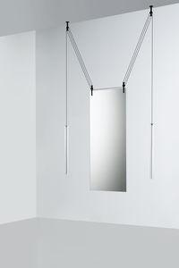 deckenmontierter Spiegel / hängend / modern / rechteckig