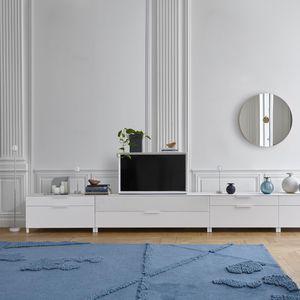 modernes Fernsehmöbel / Hi-Fi / lackiertes Holz / aus Kirschbaum