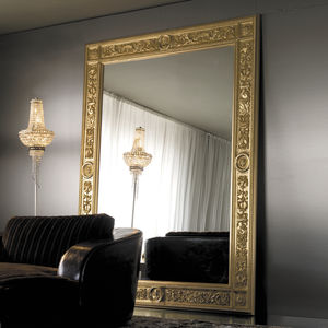wandmontierter Spiegel / Stil / rechteckig / Metall