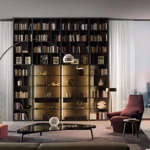 wandmontierte Bibliothek