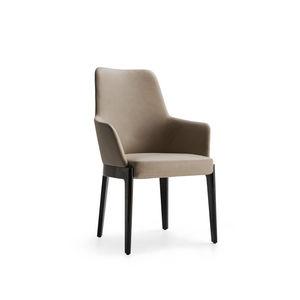 moderner Stuhl / mit abnehmbarem Bezug / Polster / mit Armlehnen
