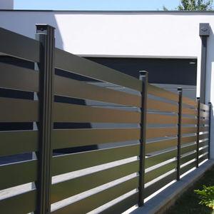 Gartenzaun / Lamellen / Aluminium / glatt