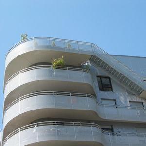 Aluminium-Geländer / Lochblech / Außenbereich / für Balkon