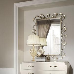 wandmontierter Spiegel / hängend / Stil / rechteckig