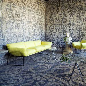 modernes Sofa / Stoff / Stahl / aus Polyesterfasern