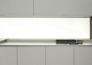 Glas-Dekorplatte / wandmontiert / lackiert / LED
