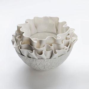 moderne Vase / Porzellan / handgefertigt