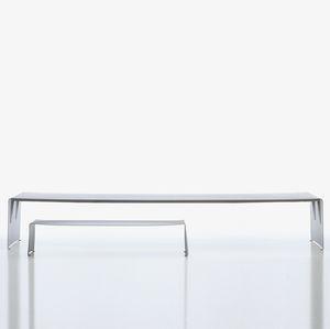 moderner Esstisch / lackiertes Aluminium / rechteckig / Contract