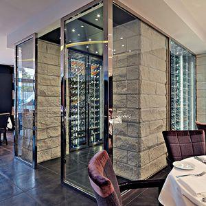 Weinkühlschrank für professionellen Gebrauch / Einbau / Edelstahl / Glas