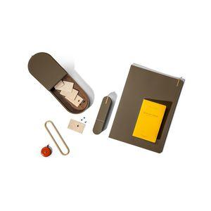 Leder-Aufbewahrungsbox / Metall / mit Deckel